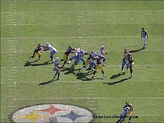 Woodley Hood Steelers Sack 5