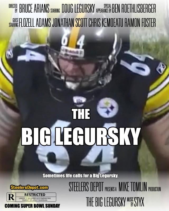 The Big Legursky Super Bowl XLV Movie Poster