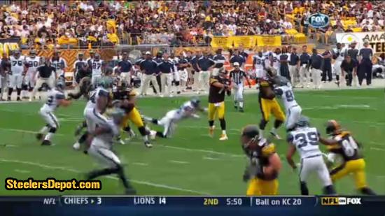 Raheem Brock hit on Ben Roethlisberger 4