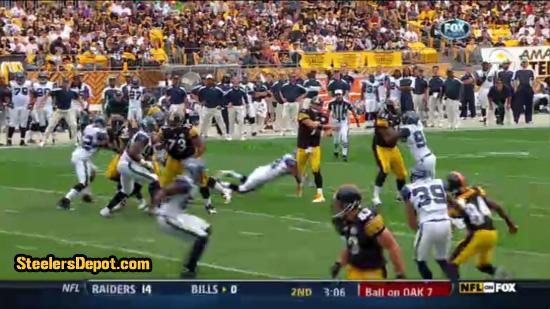 Raheem Brock hit on Ben Roethlisberger 7