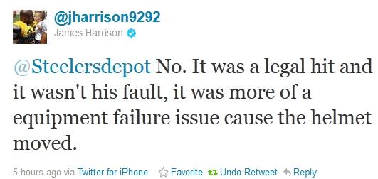 James Harrison Twitter