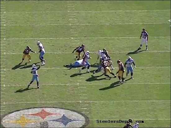 Woodley Hoos Sack Steelers 6