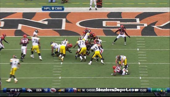Rashard Mendenhall touchdown versus Bengals 6
