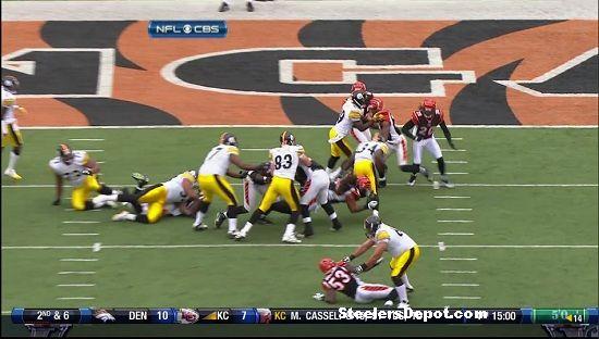 Rashard Mendenhall touchdown versus Bengals 7