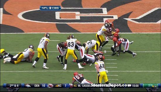 Rashard Mendenhall touchdown versus Bengals 8