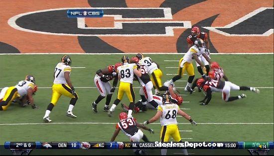 Rashard Mendenhall touchdown versus Bengals 9