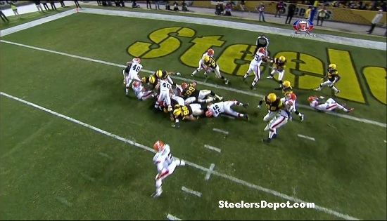 steelers versus browns goal-line stand #7