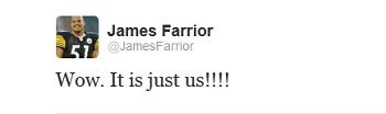 James Farrior Tweet Twitter