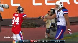 Antonio Brown Larry Fitzgerald Pro Bowl touchdown