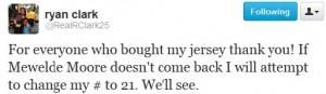 Ryan Clark Twitter #21 Jersey Number