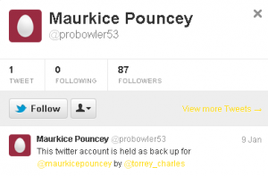 Maurkice Pouncey old Twitter page