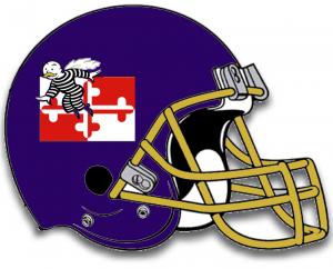 Mock up of new Ravens helmet