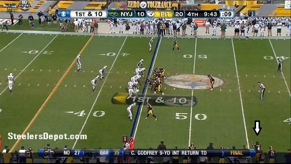 Steelers Jets 10 Man Sack