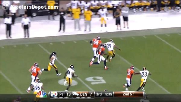Thomas TD Steelers Broncos hold Mundy