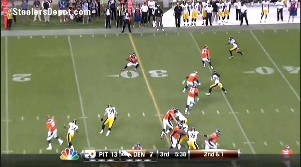 Thomas TD Steelers Broncos 3