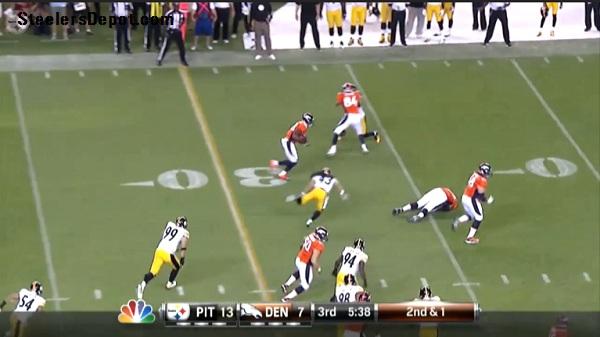 Thomas TD Pass Broncos Steelers