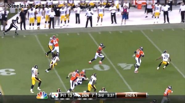 Thomas TD Pass Steelers Broncos 6