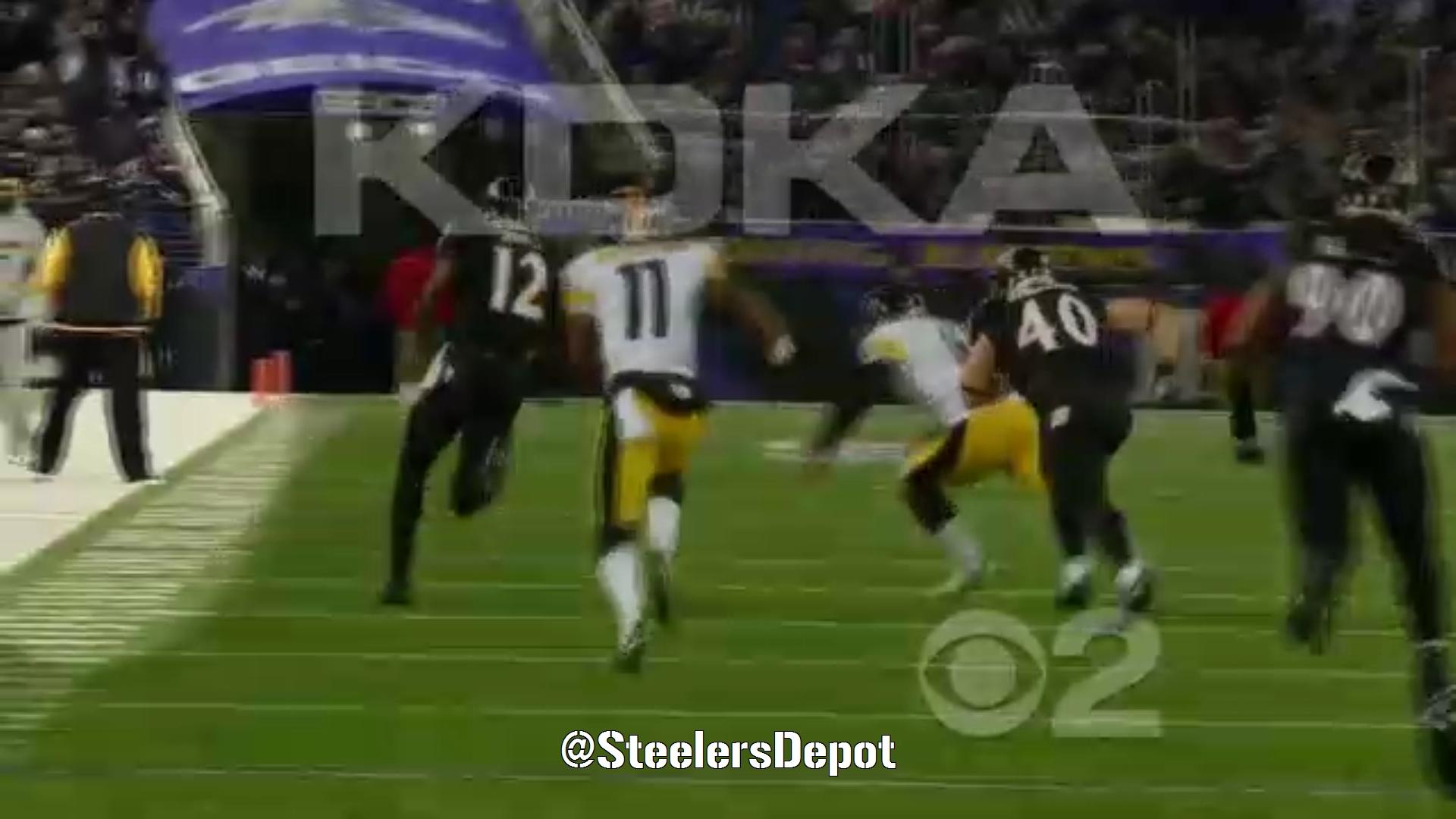 Steelers Mike Tomlin Ravens Jacoby Jones Kickoff Return
