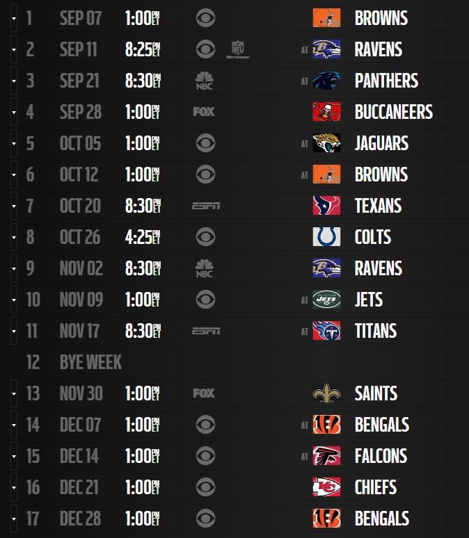 Steelers 2014 Schedule Released Steelers Depot