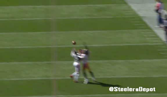 Roethlisberger incompletion 3 Browns