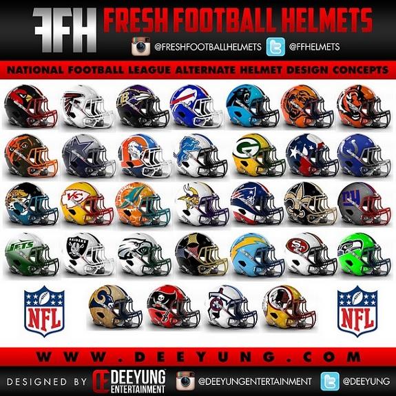 Deeyung_NFL_Helmets