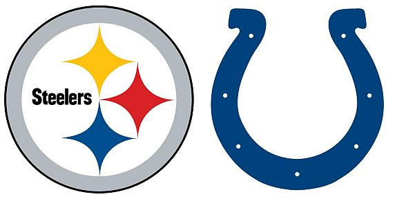 Steelers versus Colts logo
