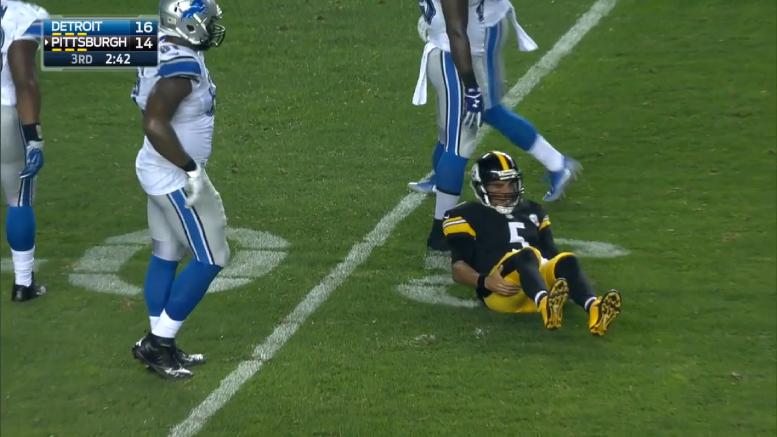 Bruce Gradkowski Steelers hamstring