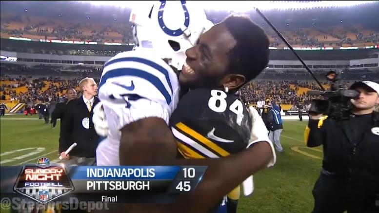 T Y Hilton Tired Of Friend Antonio Brown S Steelers Beating Him Steelers Depot