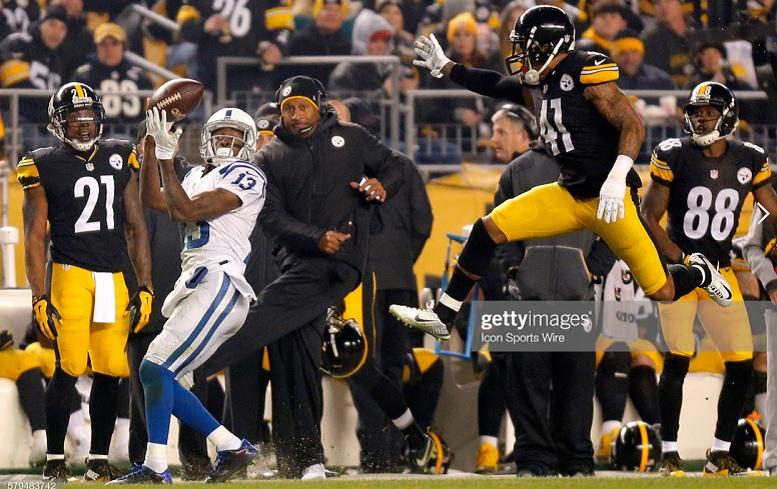 T.Y. Hilton Colts versus Steelers