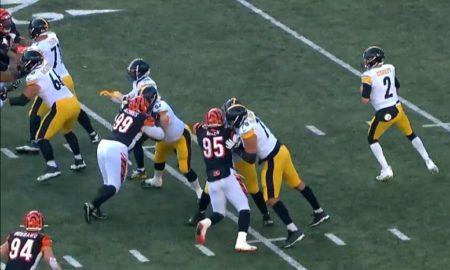 Steelers C/G B.J. Finney versus Bengals - 2019