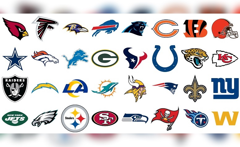NFL logos for Steelers, all 32 teams
