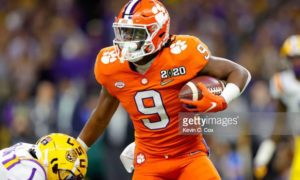 Running back Travis Etienne