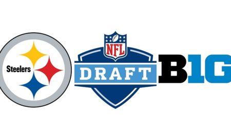 Steelers, NFL Draft, Big Ten logos