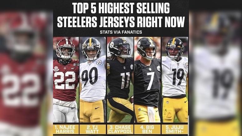 Steelers jersey sales