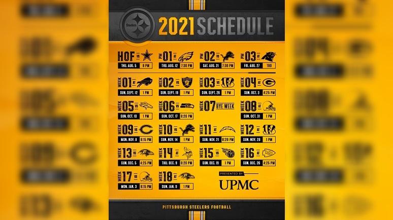 Steelers 2021 Schedule