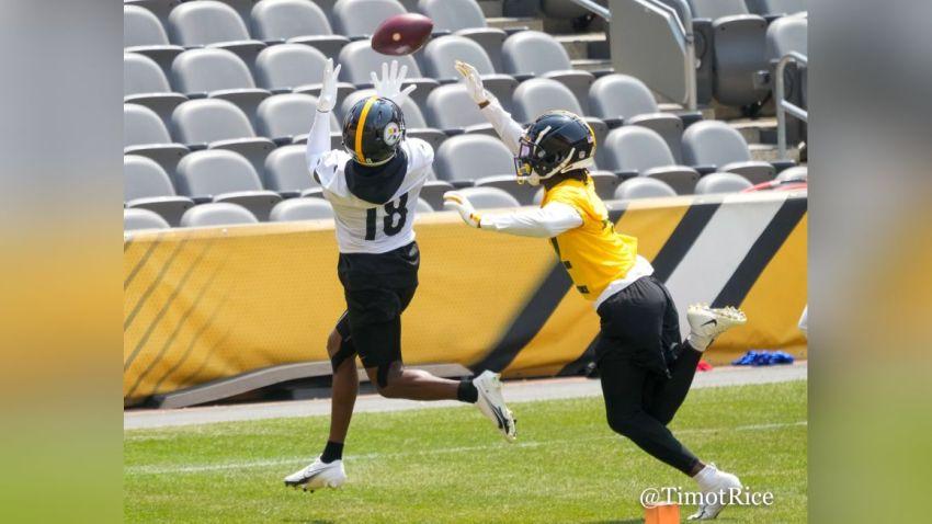 Diontae Johnson catching pass
